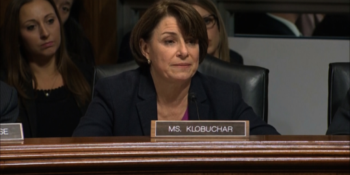 Amy Klobuchar Withdraws from Race She Wasn't In