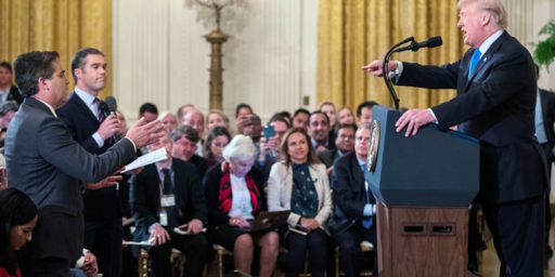 Judge Rules Against White House, Orders Jim Acosta's Press Pass Restored