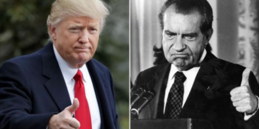 Trump Once Again Displays His Nixonian Side