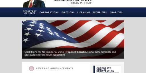 Brian Kemp Rigging His Own Election