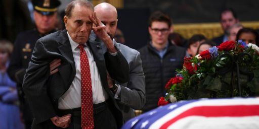 Bob Dole Offers A Final Salute To Old Friend And Political Rival George H.W. Bush