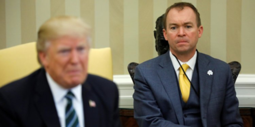 "Trump Names Budget Director Mick Mulvaney ""Acting"" Chief Of Staff"