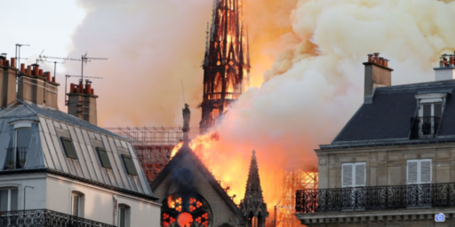 Notre Dame Cathedral Hit By Major Fire