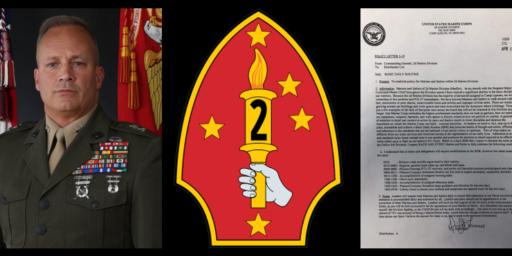 Marine Commander Threatens Entire Division
