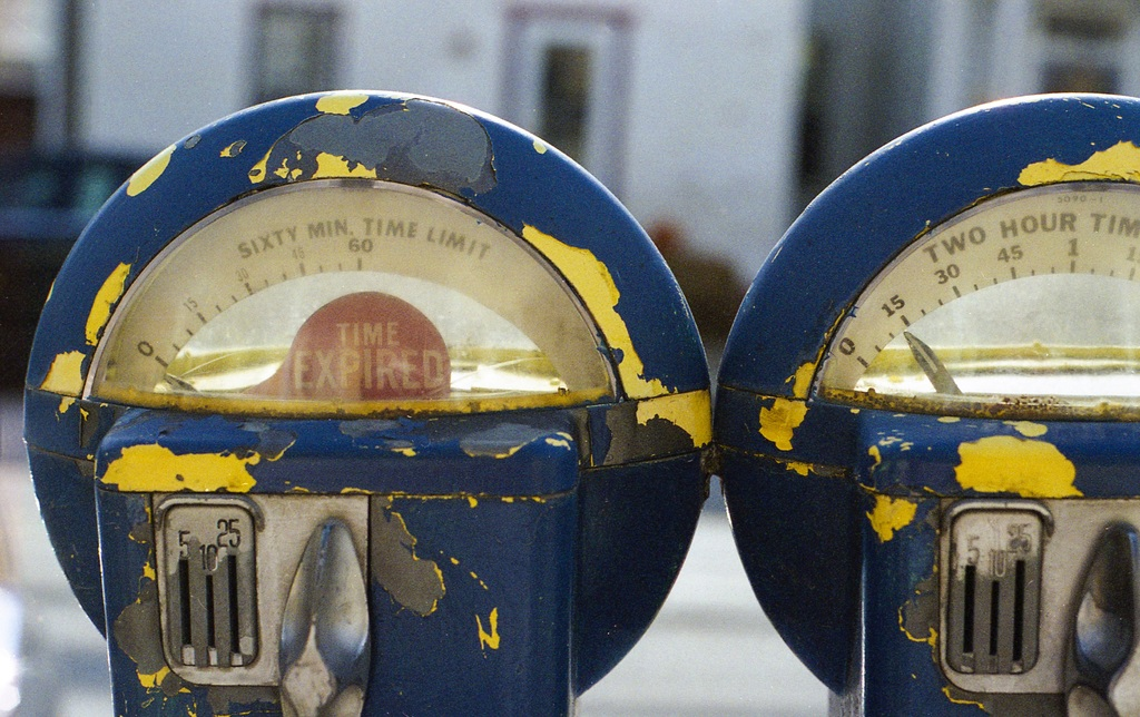 high-resolution photo of parking, vehicle, meter, park, blue, yellow, parking meter