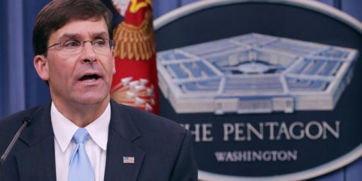 Trump To Nominate Mark Esper For Defense Secretary