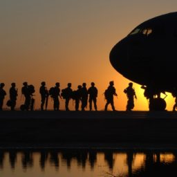 high-resolution photo of silhouette, sky, sunrise, sunset, morning, dawn, airplane, plane, aircraft, military, dusk, transport, waiting, evening, reflection, army, vehicle, aviation, flight, men, cargo, soldiers, cargo plane, us army