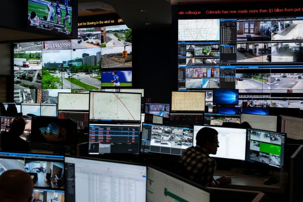 police cameras surveillance monitoring detroit