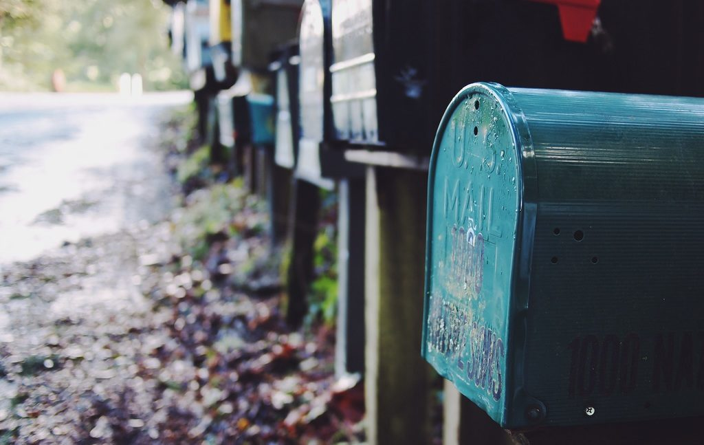 high-resolution photo of post, road, street, spring, green, letter, color, communication, blue, box, mailbox, mail, art, mailboxes, message, postal, letters, postbox, shape, contact, letterbox, postage, mailing, correspondence, urban area, e mail