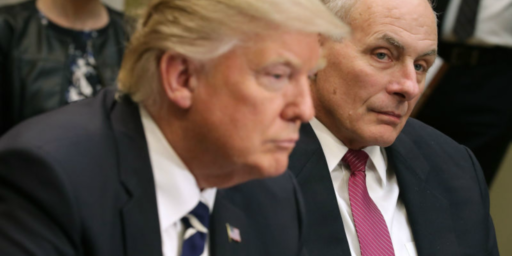 "John Kelly Says He Warned Trump Of Impeachment If He Hired ""Yes"" Men"