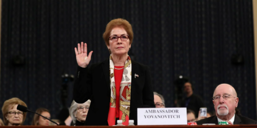 Former Ambassador Describes Effort By Trump Associates To Push Her Aside