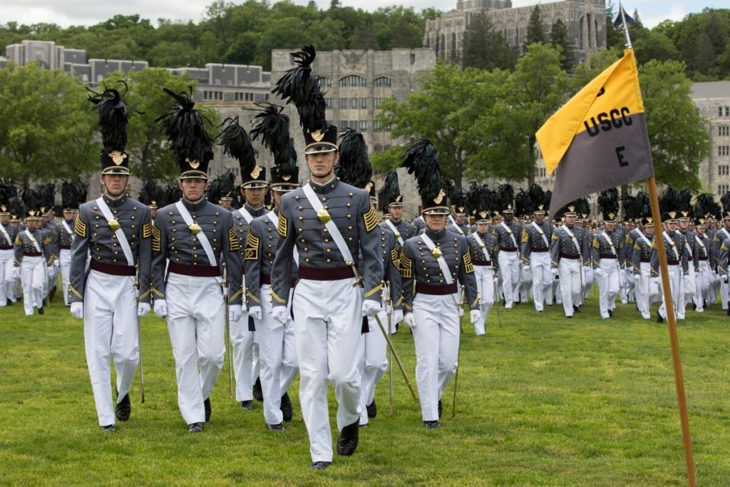 Cadets participate in the Class of 2019 Graduation Parade, May 24, 2019, at West Point. (Matthew Moeller/Army)