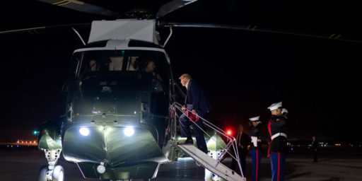 President Donald J. Trump boards Marine One at Joint Base Andrews, Md., just after midnight Sunday, June 21, 2020, for his flight back to the White House following his trip to Tulsa, Okla.