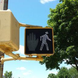 pedestrian, light, road, traffic, advertising, monument, walk, sign, symbol, landmark, signal, billboard