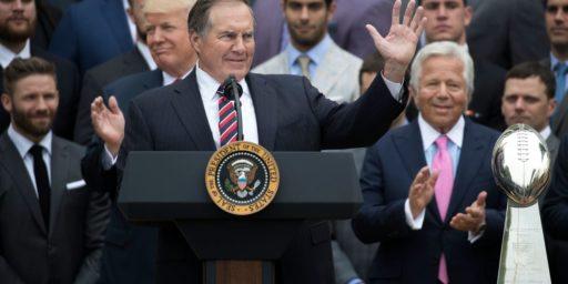 Bill Belichick Refuses Presidential Medal of Freedom