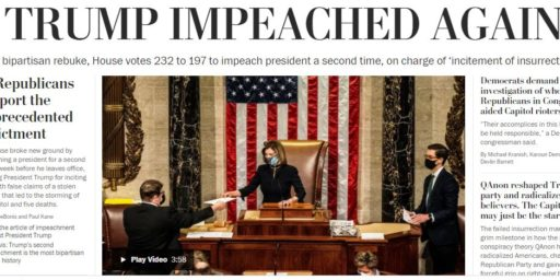 Trump Impeached Once More with Feeling