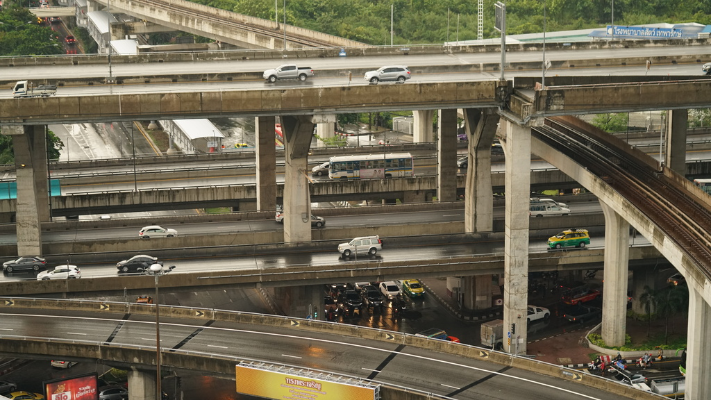 Highway interchange in Bangkok near Bang Na BTS station