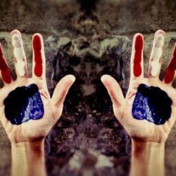 patriotism patriotic hands red white blue america