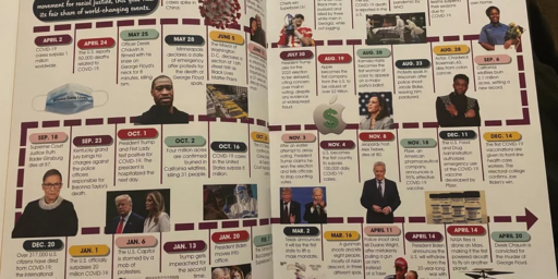 Timeline Ripped Out of Arkansas Yearbook