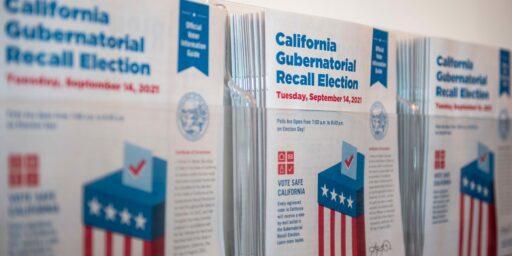 Is California Recall Unconstitutional?